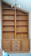 Solid Oak Bookcase made to Fit Alcove