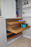 Pantry with Shaped Oak Drawers